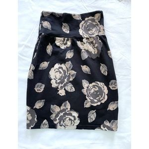 Aritzia   Talula Floral Bodycon Pencil Skirt (XXS)